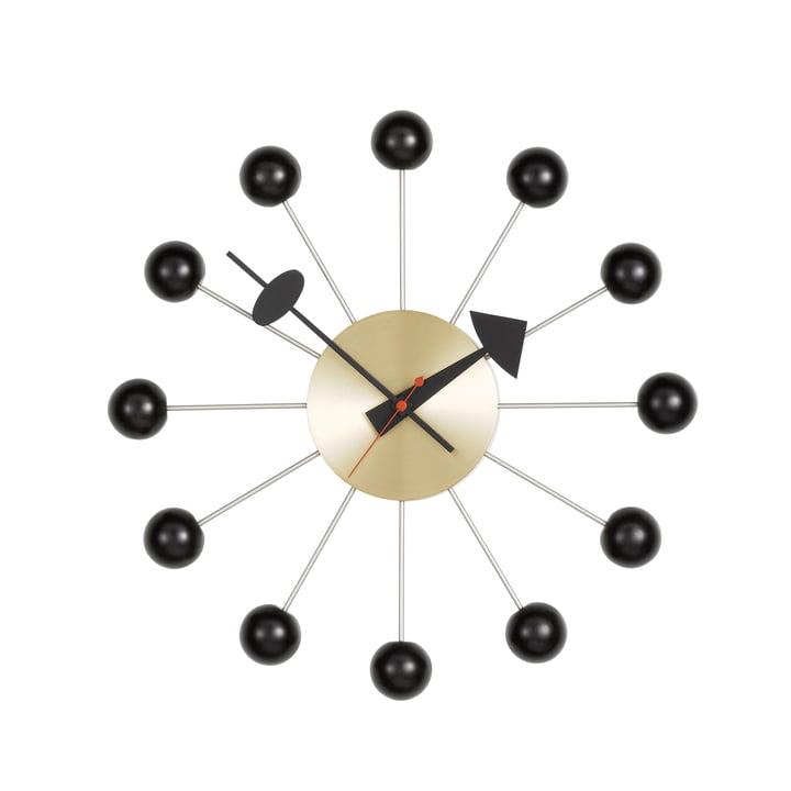Ball Clock von Vitra in Schwarz / Messing