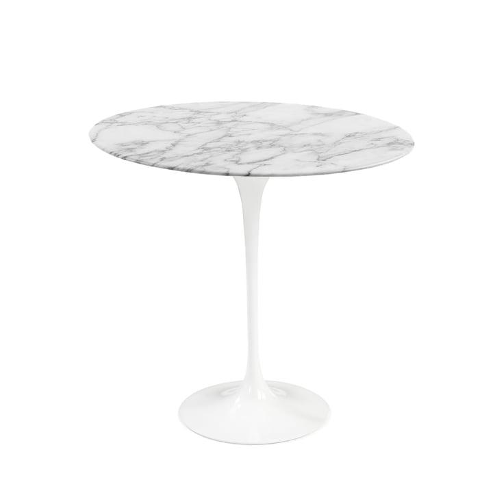 Knoll - Saarinen Tulip Beistelltisch rund, Marmor Arabescato / weiß