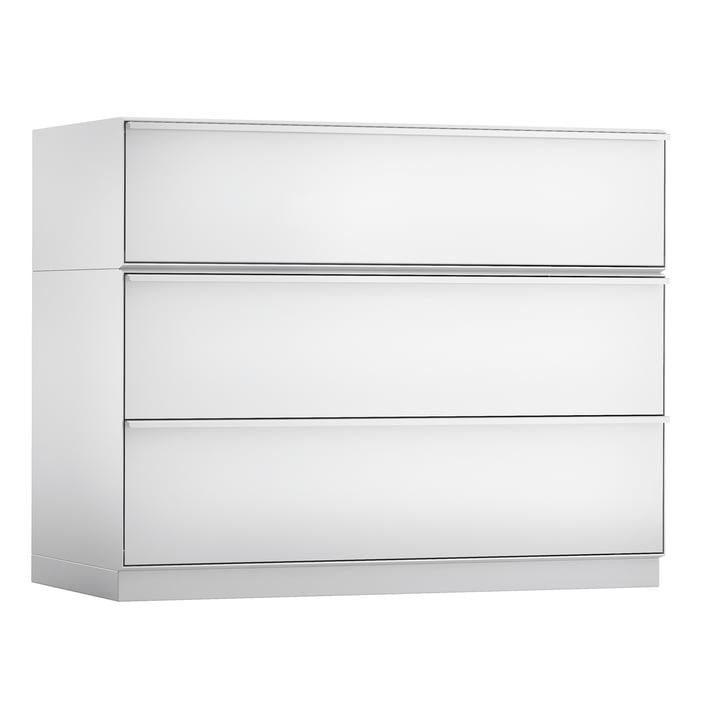 Adhoc Kommode 741 (58 x 36 x 108 cm) von Zanotta in Weiß