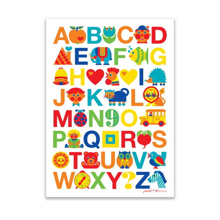 Poster ABC 50 x 70 cm von byGraziela