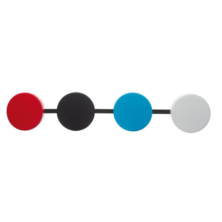 KooKoo - Bird House Kuckucksuhr, Pendel in Rot, Schwarz, Blau, Weiß