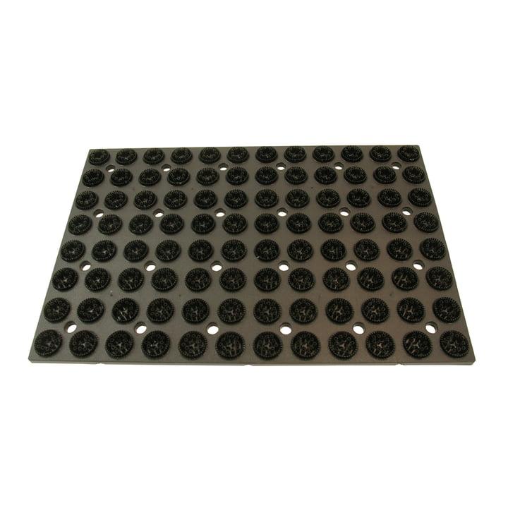 Radius Design - Kunststoffmatte mit Ersatzbürsten, schwarz
