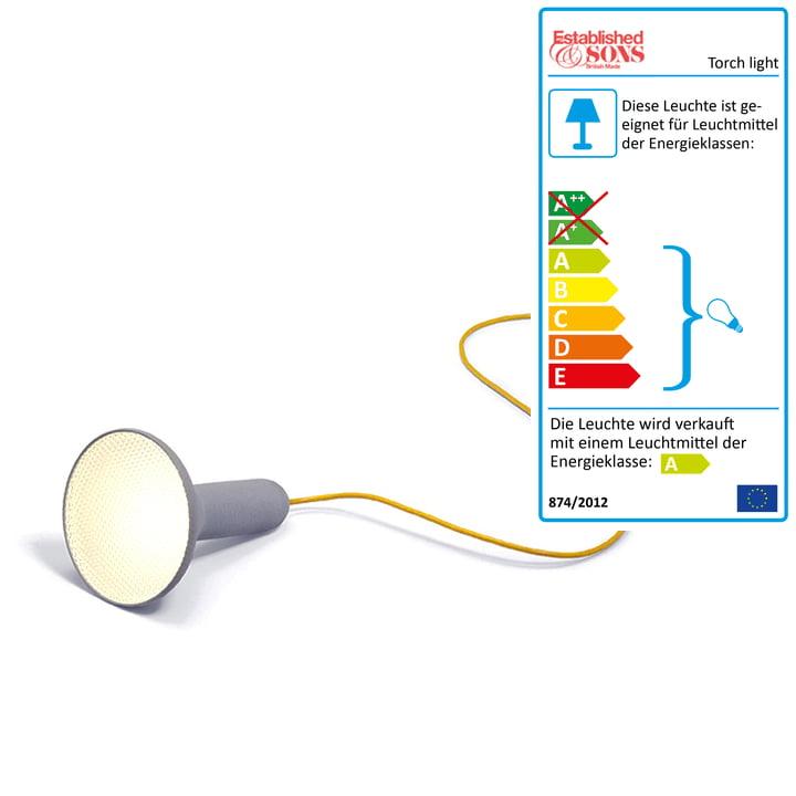 Die Established & Sons - Torch light, Boden, kegel, grau-gelb