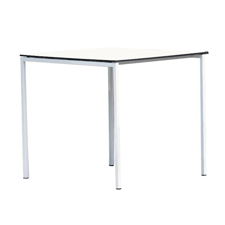 Jan Kurtz - Tisch White, weiß/anthrazit, 75x75 cm
