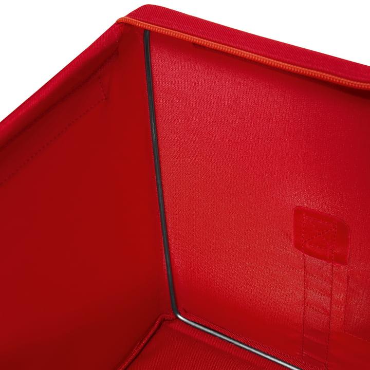 reisenthel - Storagebox, rot - Detailansicht, Kante innen