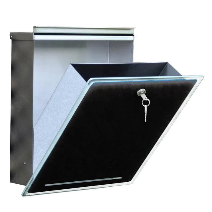 Briefkasten Letterman III von Radius Design in schwarz