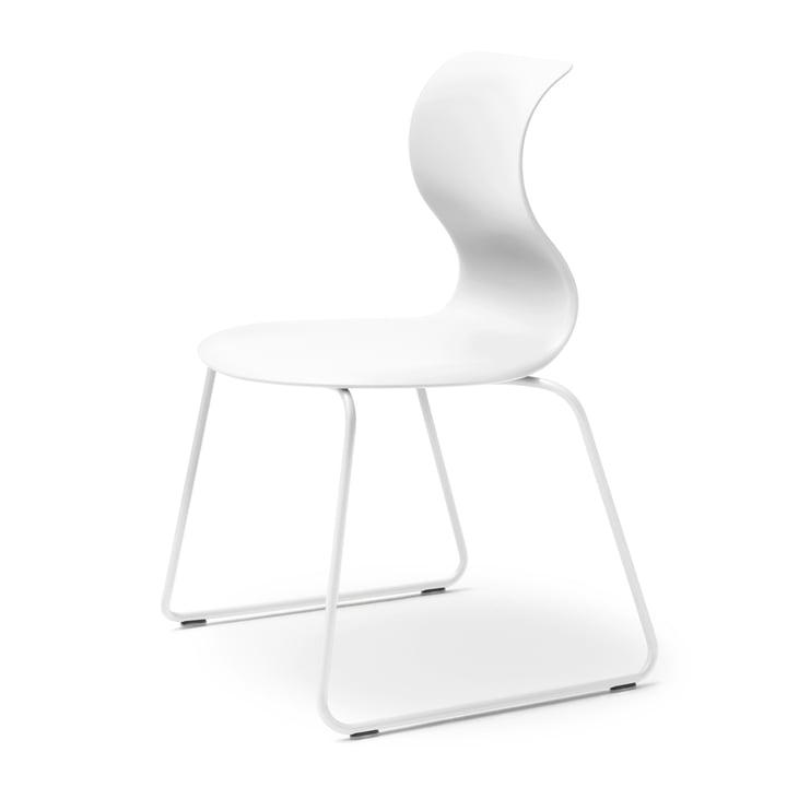Pro 6 Stuhl Gleitkufengestell von Flötotto in Schneeweiß