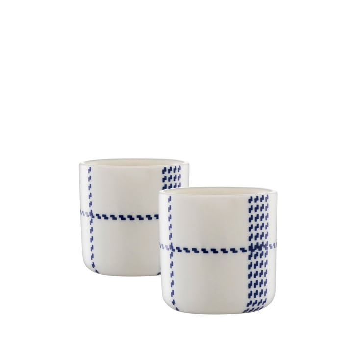 Normann Copenhagen - Mormor Blue Eierbecher, 2er-Set