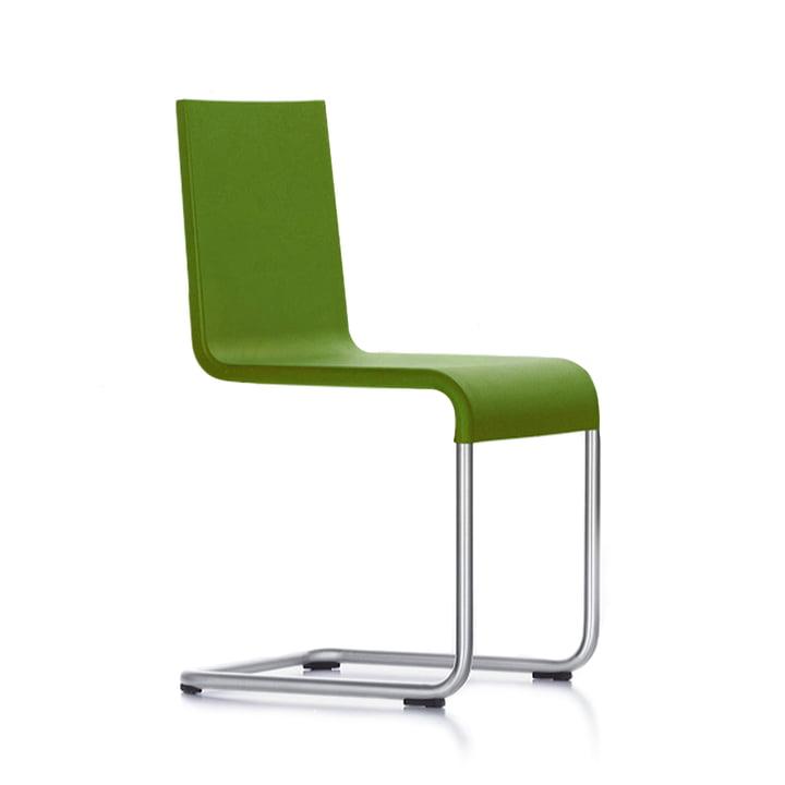 Der Vitra - 05 Stuhl in Edelstahl / avocado