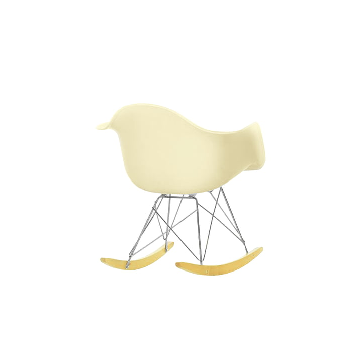 Miniatur Eames Plastic Armchair RAR von Vitra in off-white