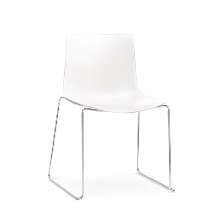 Arper - Catifa 46 Stuhl, Kufengestell, Polypropylen, weiß