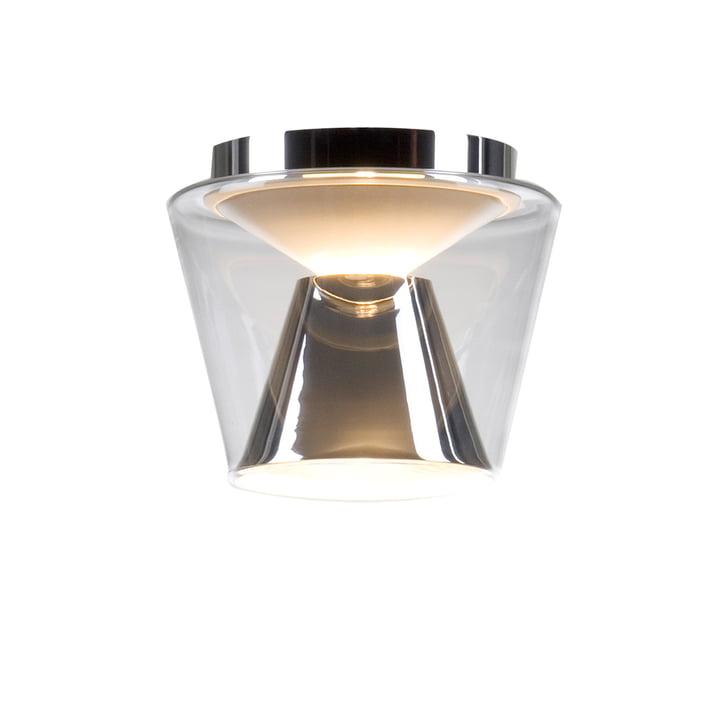 Annex Deckenleuchte small Glasschirm: klar, Reflektor: verchromt