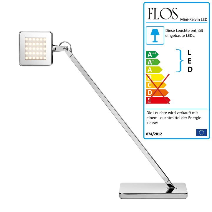 Flos - Minikelvin LED Tischleuchte, silber
