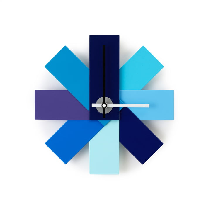 Watch me Wanduhr von Normann Copenhagen in Blau