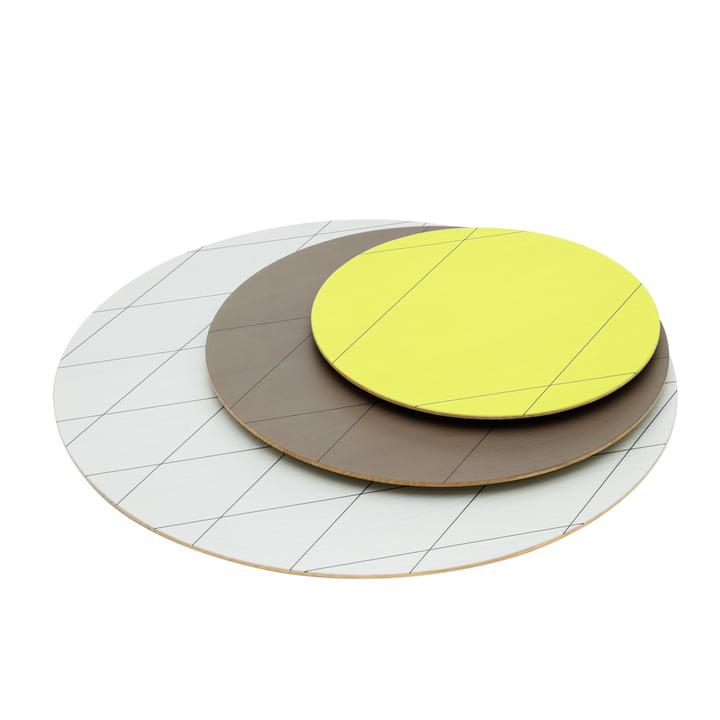 Karimoku - Colour Platter Teller (3er-Set), sand