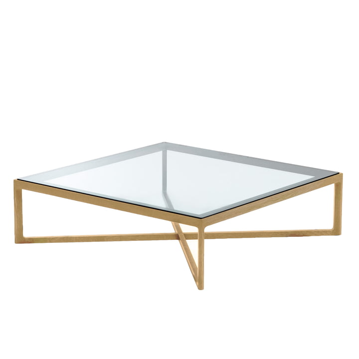 Knoll - Marc Krusin Coffee Table 90 x 90 cm, Eiche / Glas