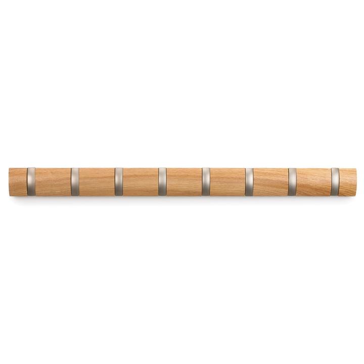 Umbra - Flip Hook 8er Garderobenleiste, natur