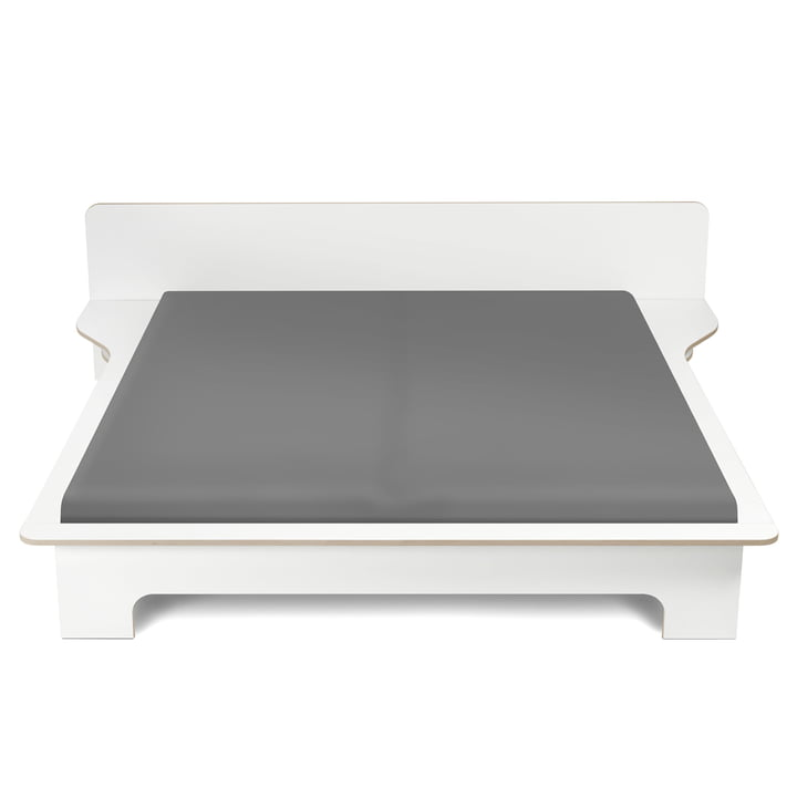 Plane Doppelbett von Müller Möbelwerkstätten in weiß