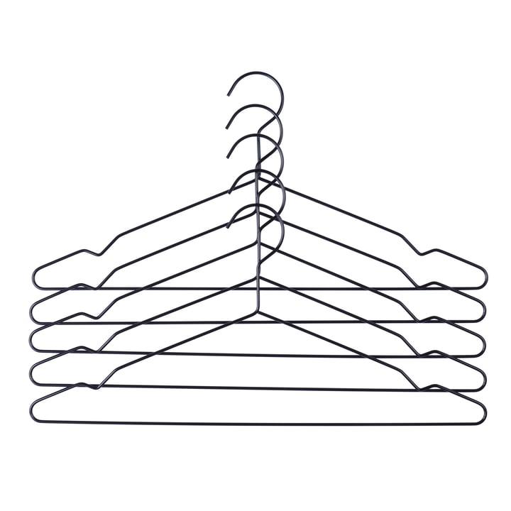 Hay - Hang Kleiderbügel 5er-Set, schwarz