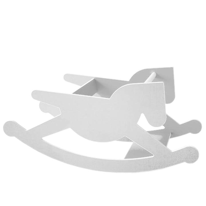 Kaether & Weise - doppelhoppel Schaukelpferd, weiß