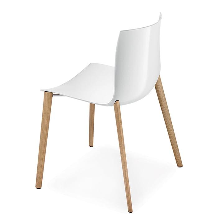 Catifa 46 Stuhl mit Holz-Vierfußgestell von Arper