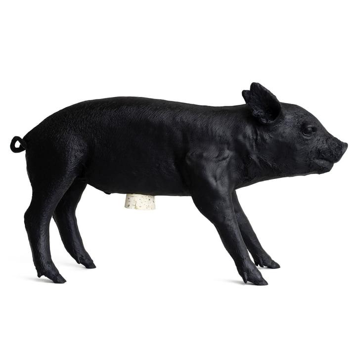 areaware - Pig Bank Sparschwein, schwarz matt