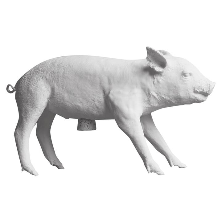 areaware - Pig Bank Sparschwein, weiß matt