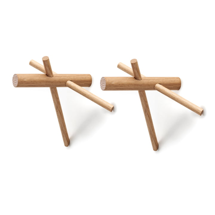 Normann Copenhagen - Sticks Haken, natur, 2er-Set