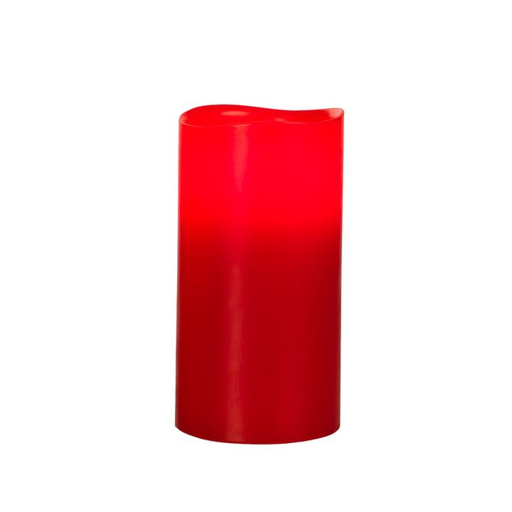 LED Echtwachskerze, Rot L