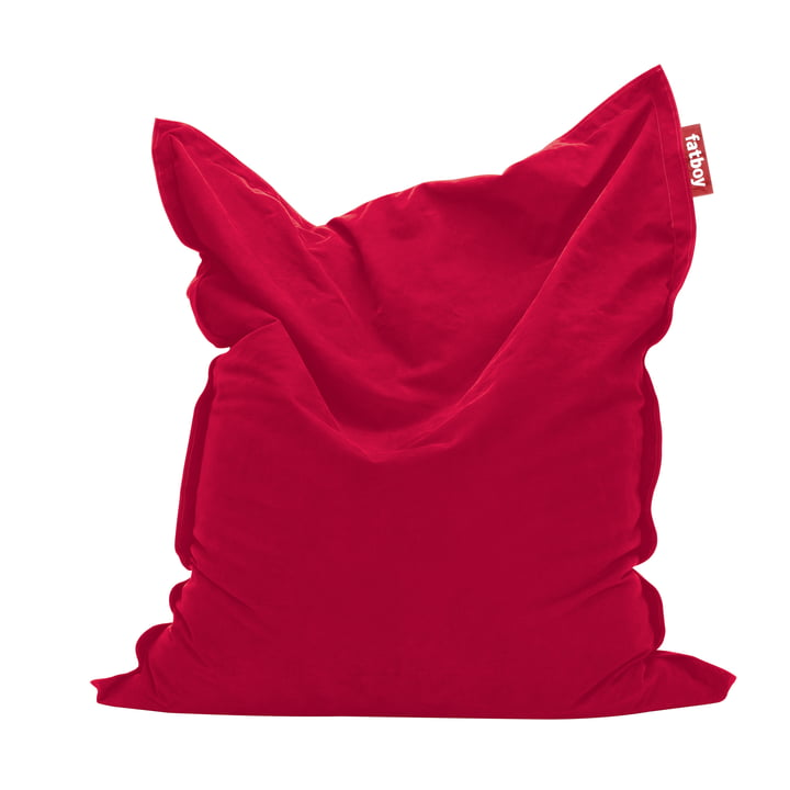Original Sitzsack Stonewashed von Fatboy in Rot