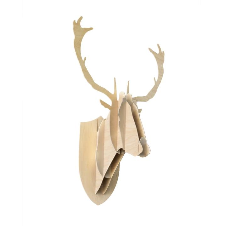 Moustache - Deer Trophäe, Birkenholz