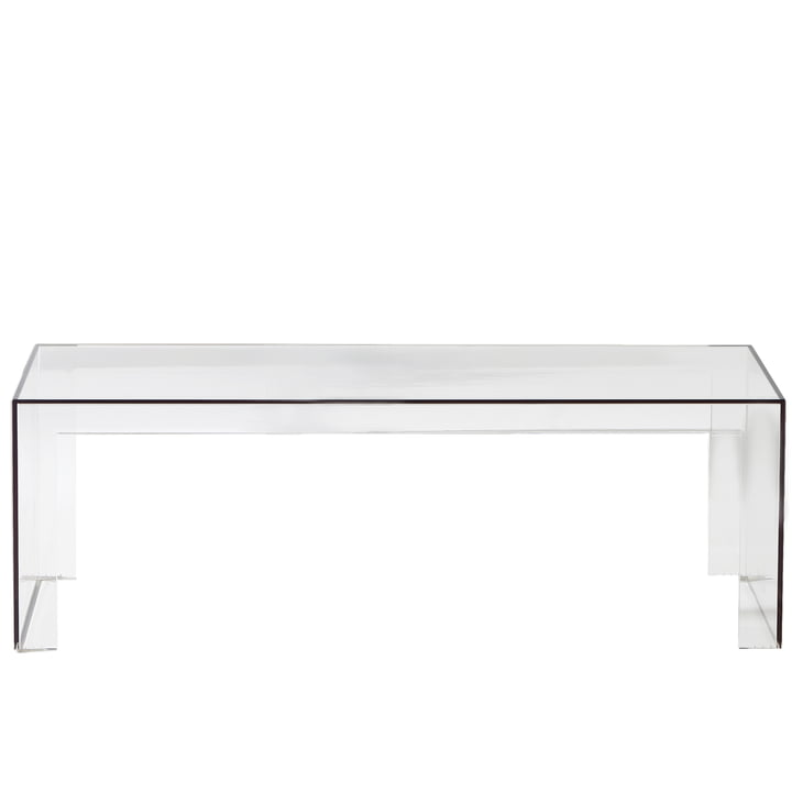 Kartell - Invisible Side Bank H 40cm, glasklar