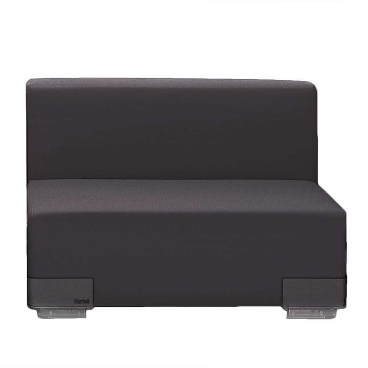 Kartell - Plastics Sofa Einzelelement mit Rückenlehne, schwarz