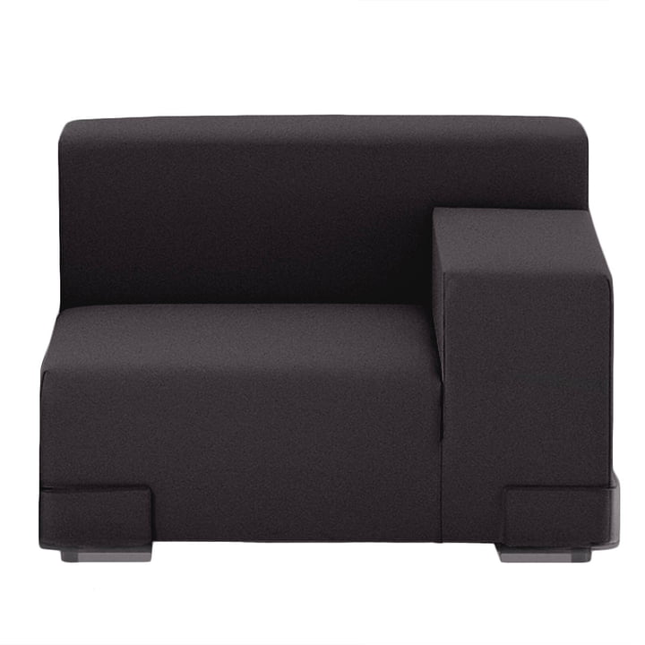 Kartell - Plastics Sofa Eckelement, Armlehne links, schwarz