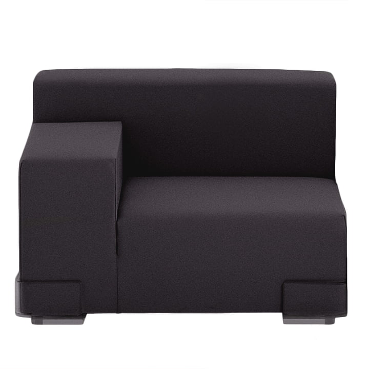Kartell - Plastics Sofa Eckelement, Armlehne rechts, schwarz