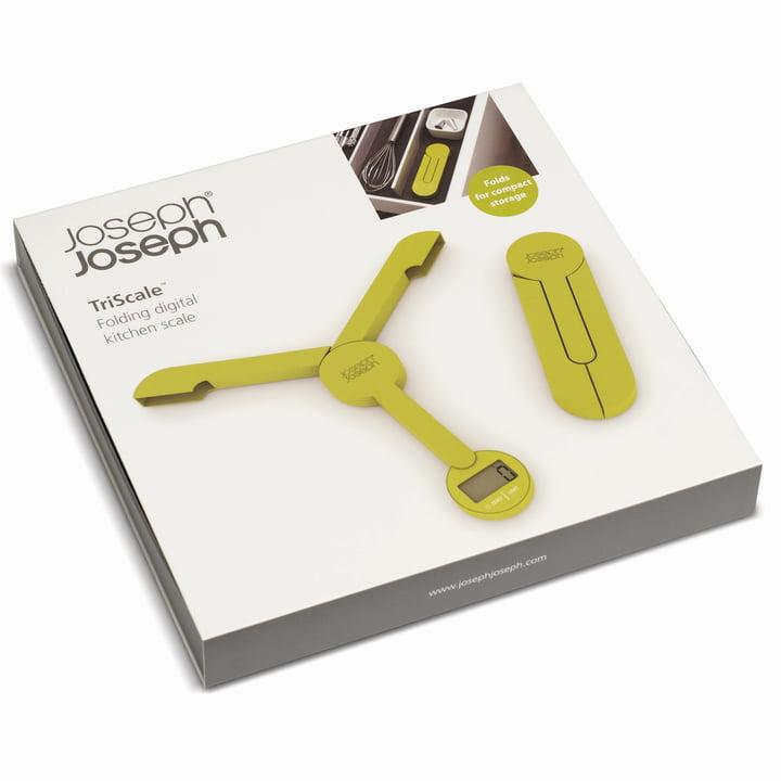 Joseph Joseph - TriScale Faltwaage, grün - Verpackung