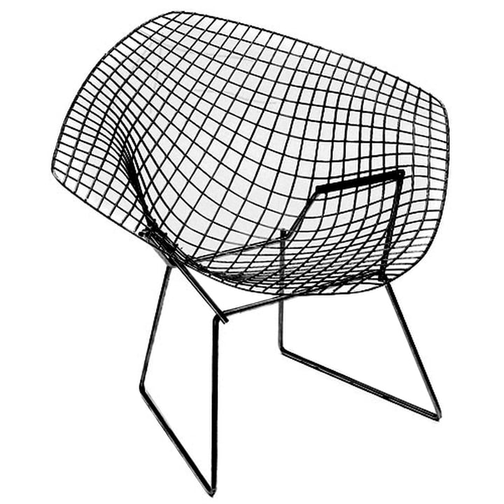 Bertoia Diamond Outdoor Sessel von Knoll in Schwarz