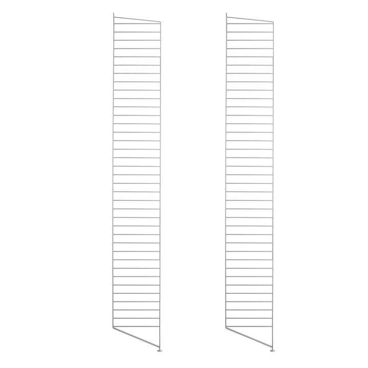 Bodenleiter für String Regal 200 x 30 cm (2er-Set) von String in Grau