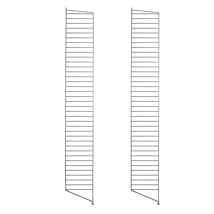 Bodenleiter für String Regal 200 x 30 cm (2er-Set) von String in Schwarz