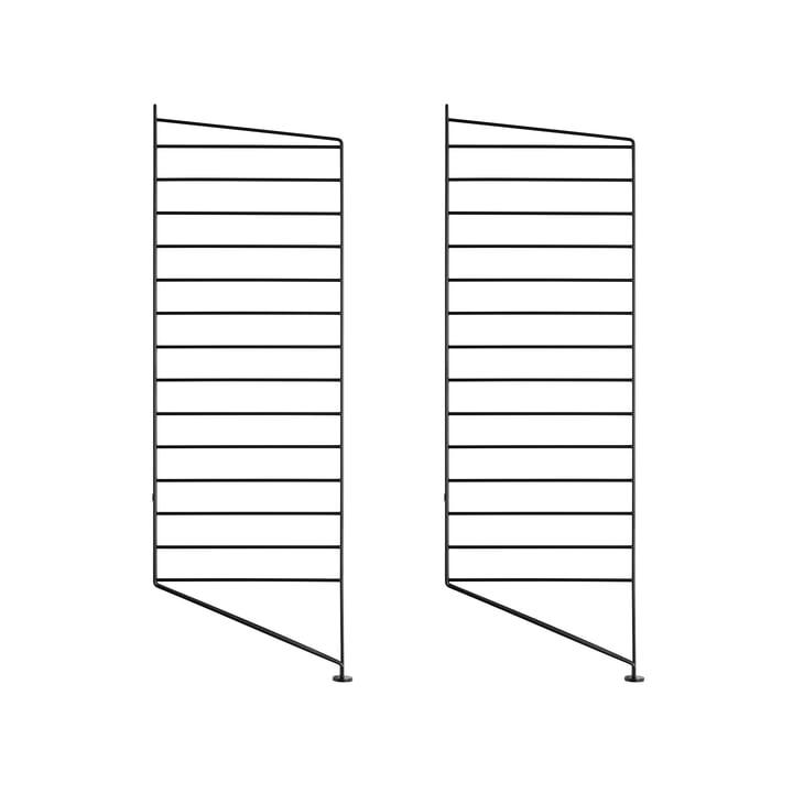 Bodenleiter für String Regal 85 x 30 cm (2er Set) von String in Schwarz