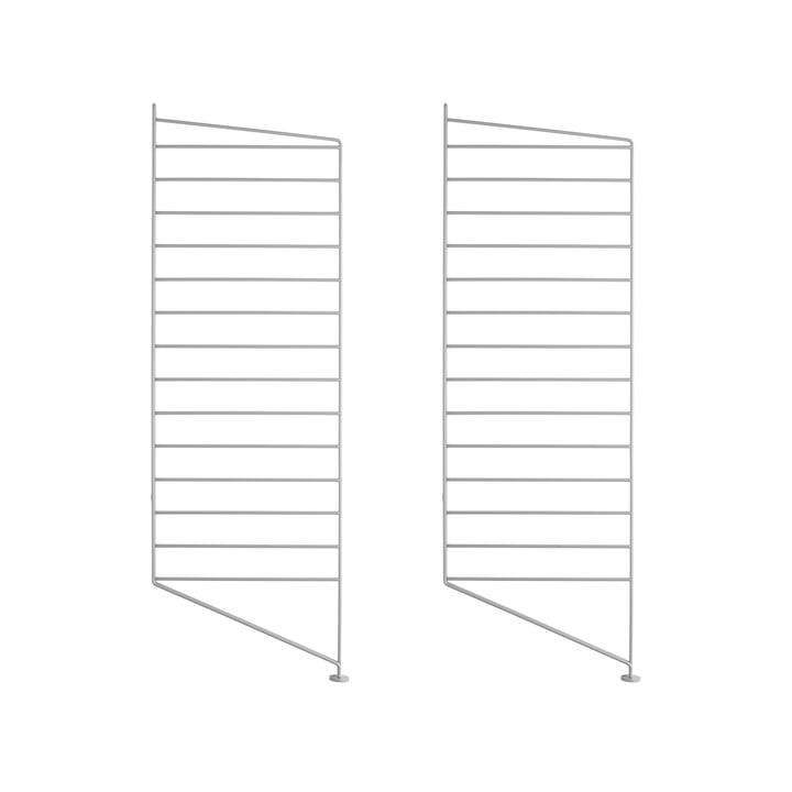 Bodenleiter für String Regal 85 x 30 cm (2er Set) von String in Grau
