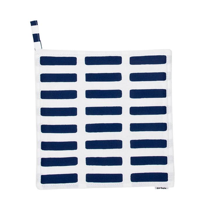 Artek - Siena Topflappen, weiß/ blau