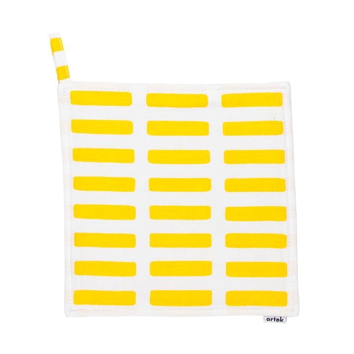 Artek - Siena Topflappen, weiß/ gelb