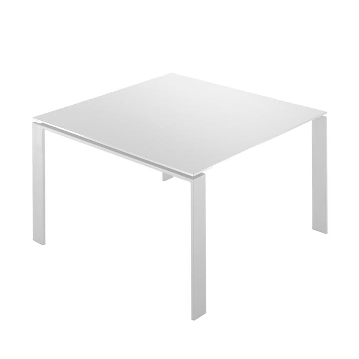 Kartell - Four Tisch, 128x128, weiß/ weiß