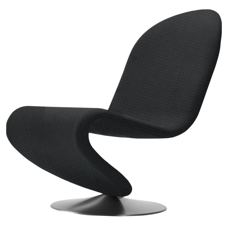 System 1-2-3 Lounge Chair Standard von Verpan in Urban Plus Schwarz (Subway yn009)