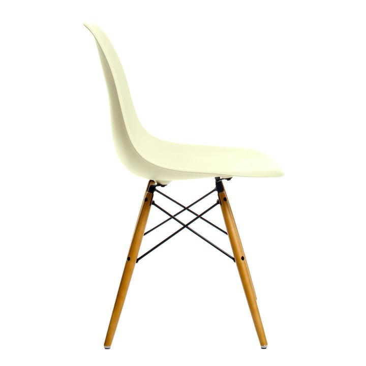 Vitra - Eames Plastic Side Chair DSW, Ahorn gelblich / créme