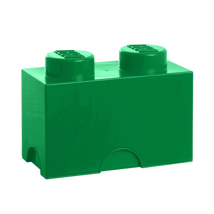 Lego - Storage Brick 2, dunkelgrün