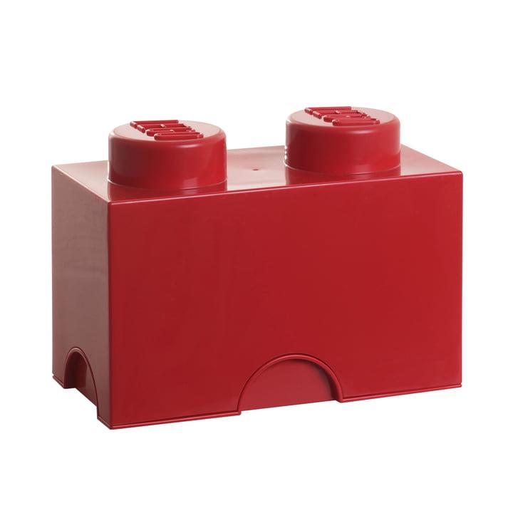 Lego - Storage Brick 2, rot