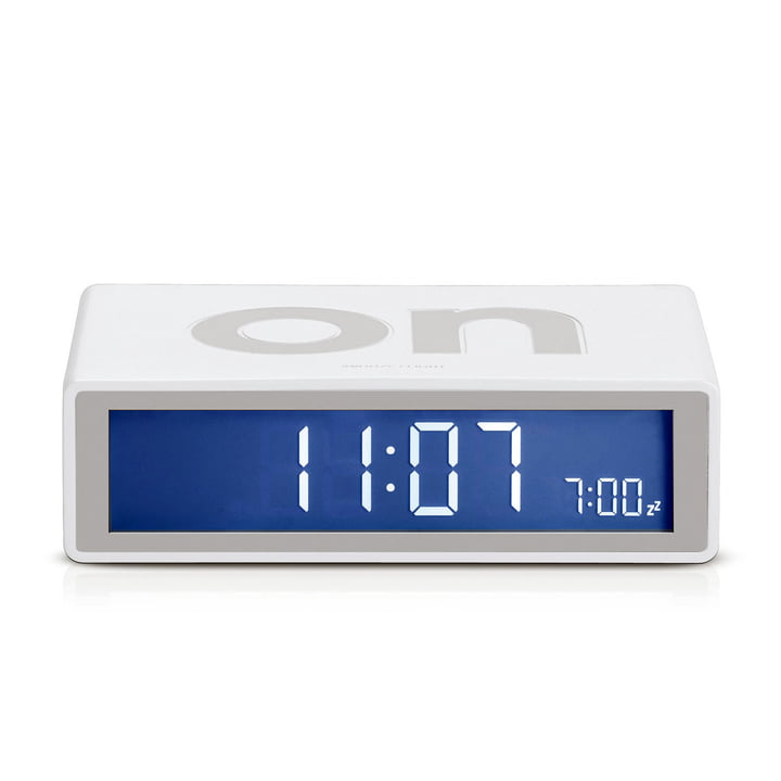 Lexon - Flip LCD-Wecker, weiß