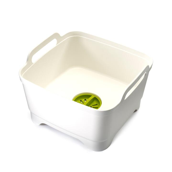 Wash&Drain Geschirrspülbecken mit Ablaufstecker von Joseph Joseph in weiß / grün